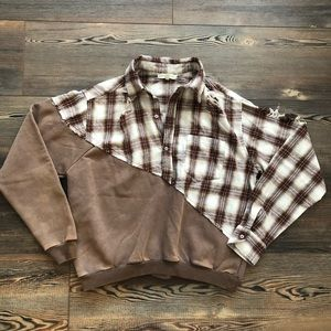 NWOT Gilded Intent flannel sweatshirt